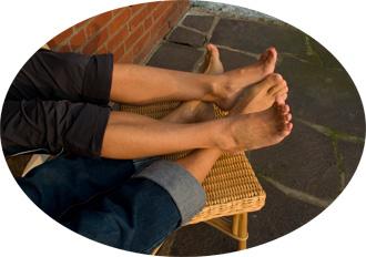 Auszeit - Beine hochlegen
