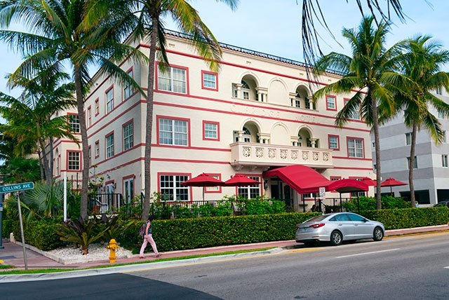 Typische «Art Deco» Architektur in Miami Beach