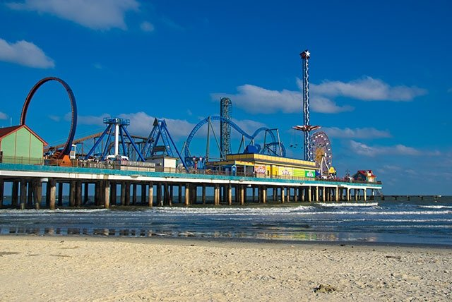 Die Pleasure-Pier von Galveston