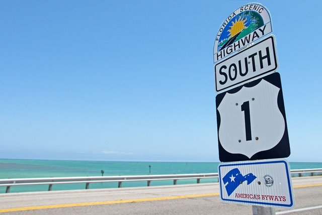Der Highway No.1 beginnt in Key West.