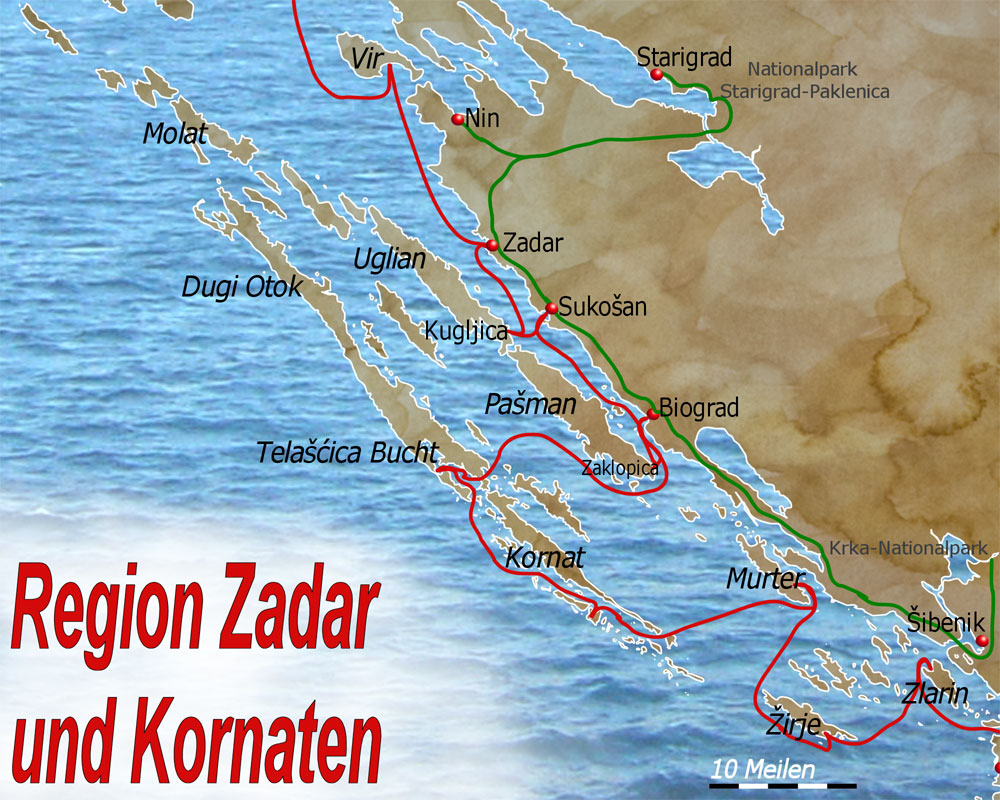 Im Stadthafen Von Zadar