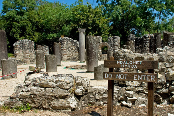 Römische Ausgrabungen in Butrint