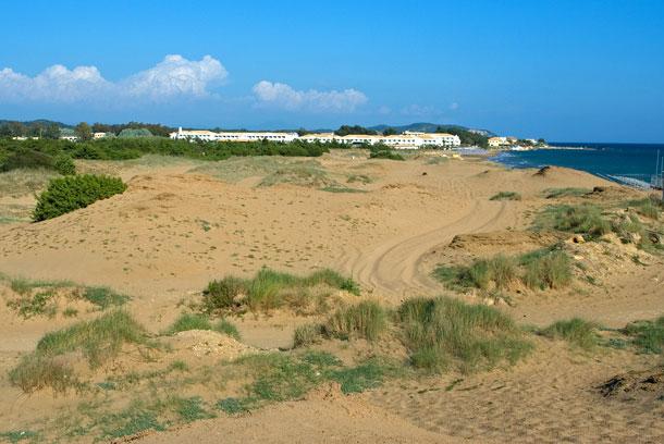 Korfu, Sanddünen beim Korrison See